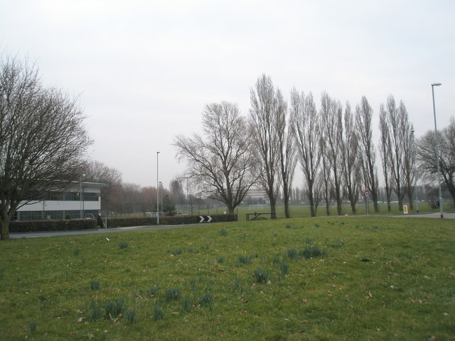 Looking from Northarbour Road over to King George V Playing Fields