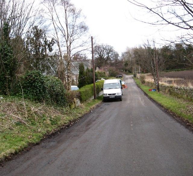 Crichton Village road.