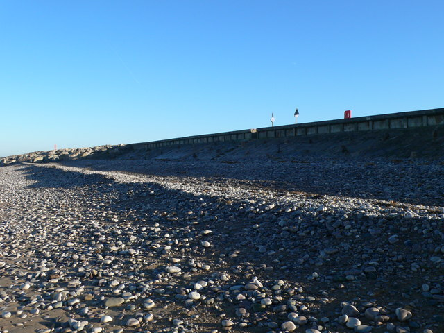 The beach at Pensarn