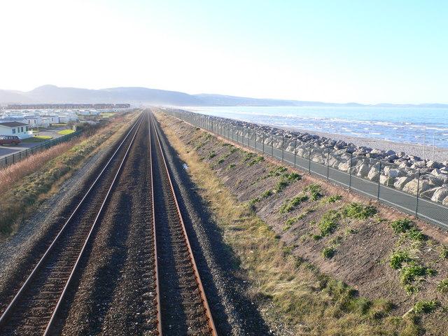 The railway to Holyhead