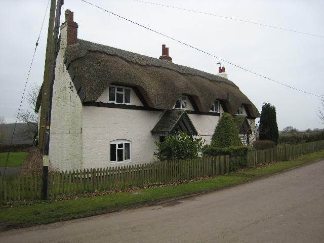 Thatched cottages in Calke Village