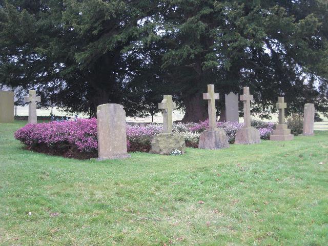 Graves in Calke Churchyard