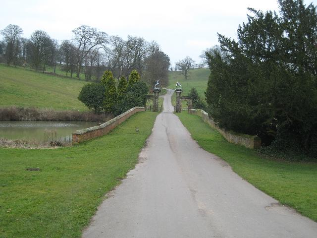 Driveway to Staunton Harold Hall