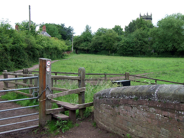 Footpath to Colwich, Staffordshire