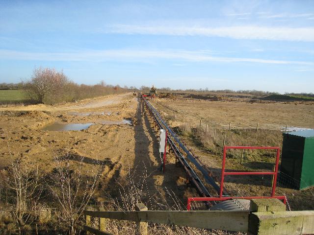 Gravel workings near Eysey Manor