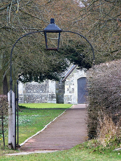 Path, St Lawrence Church, Stratford-sub-Castle