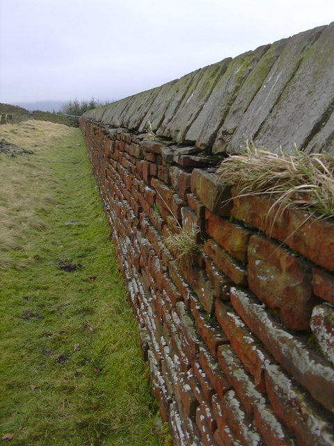Moorland side of Cemetery Wall