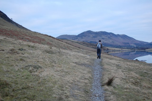 On the Footpath by Crummock Water
