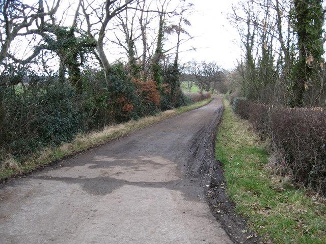 Entrance and road to Merryhatton Farm