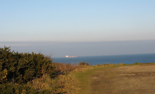 Cliff top west of the harbour entrance at Amlwch