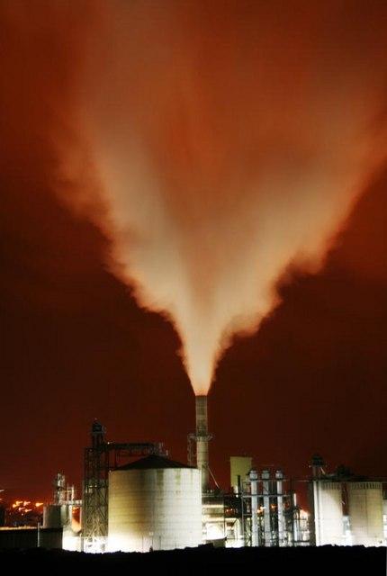 Egger factory at night
