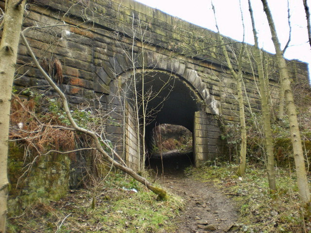 Footpath under the railway near Dunge Booth Lock