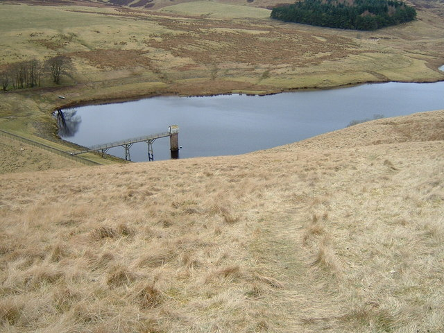 Path down to the N Esk Reservoir
