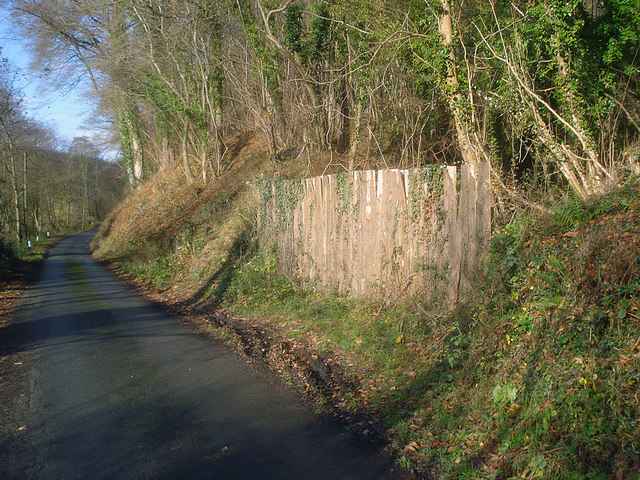 Boarded up quarry entrance at Garden House Wood
