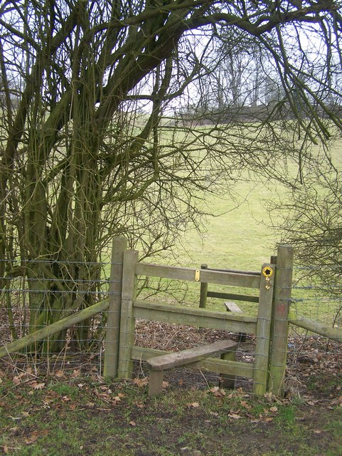 Double Stile on hedge line