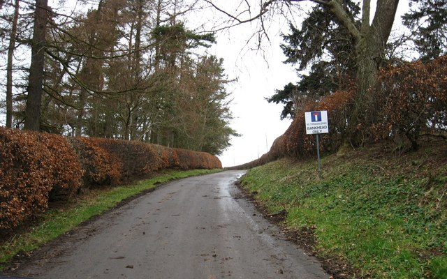 The road to Bankhead Farm