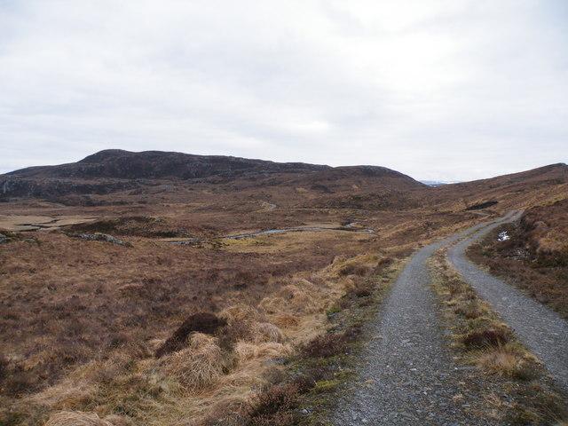 Allt Saigh and Hydro Track going towards Carn Mòr
