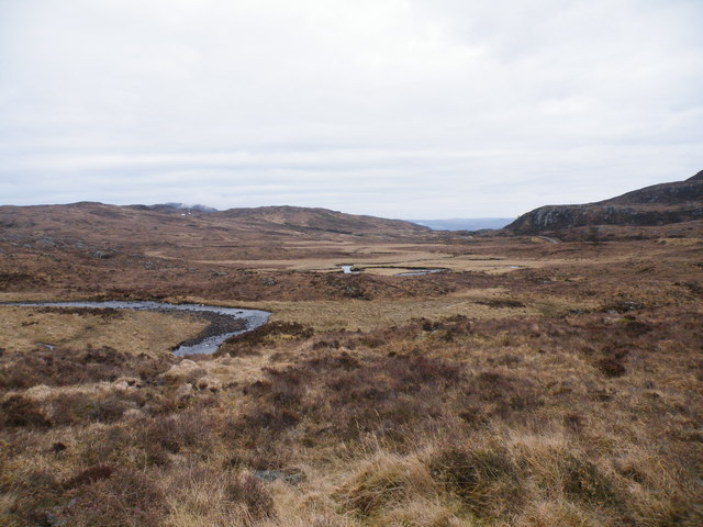 Allt Saigh Going East across Moorland