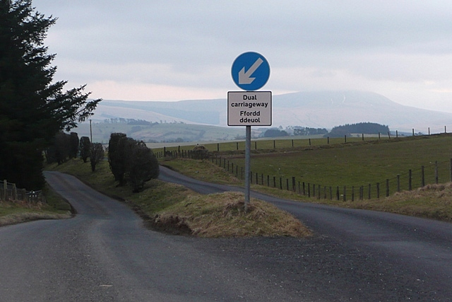 Dual carriageway to Llywel