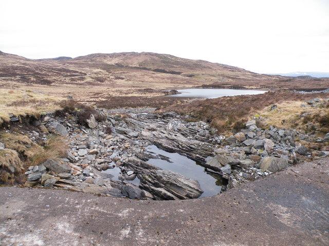 Allt Saigh Dam Outlet above Loch a' Mheig