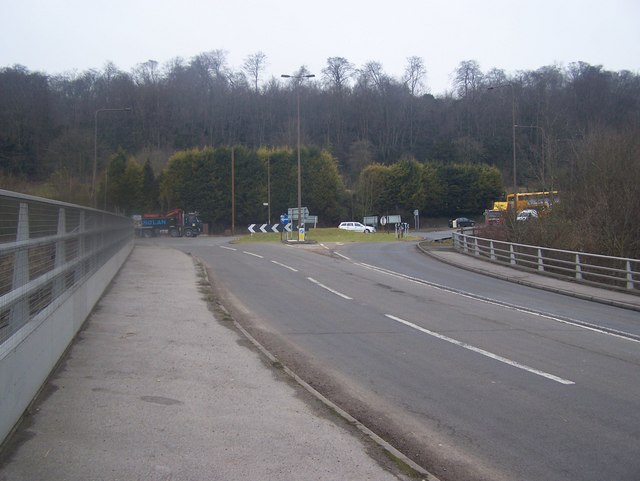 Roundabout on A20/A227 junction