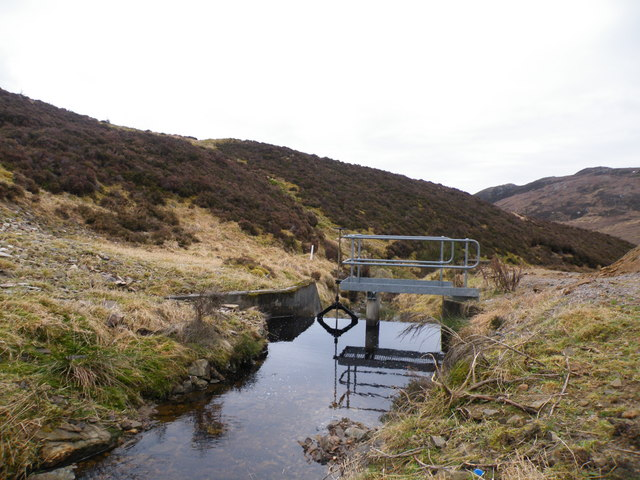 Water Gauge on Allt Saigh Tributary