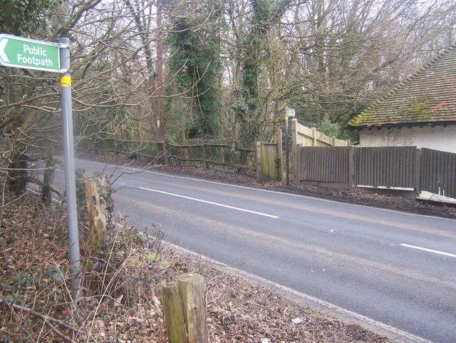 Footpath crosses A227 Gravesend Road