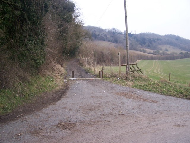 Pilgrims Way and North Downs Way go on trackway