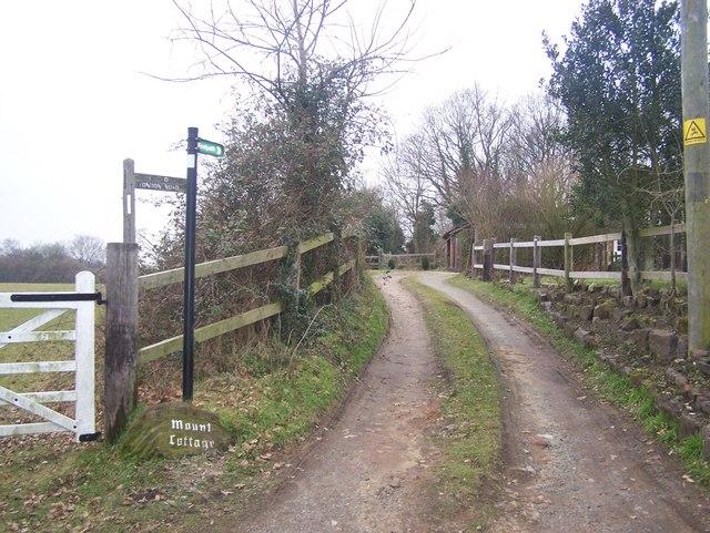 Footpath on Aldon Lane