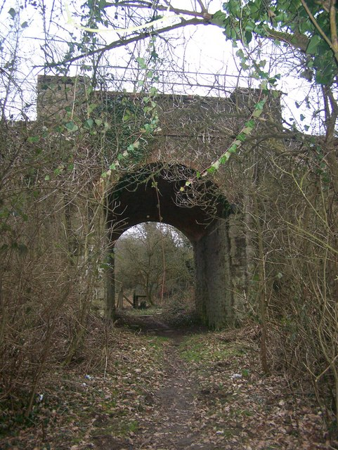 Railbridge over footpath