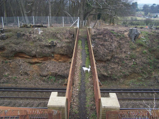 Footbridge over railway