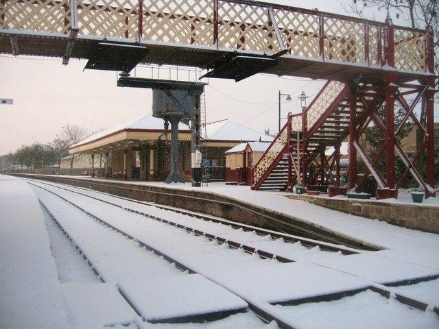 Ramsbottom Railway Station in Winter
