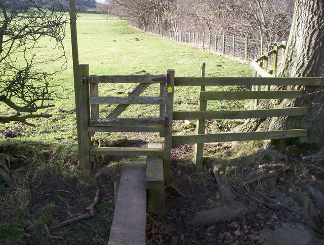 Wooden stile with a gate