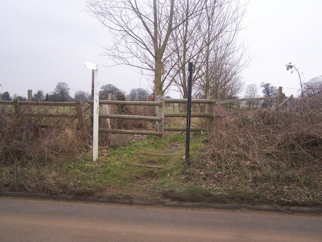 Footpath on Roughetts Road