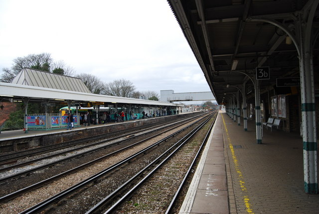 The London to Brighton line passes through Redhill Station