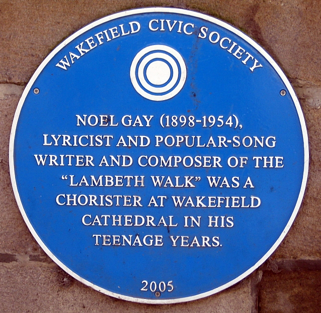 Wakefield Cathedral blue plaque