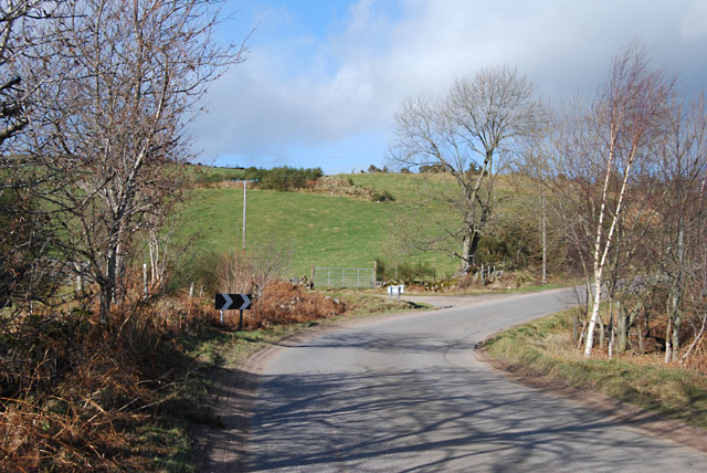 Shooting Greens Road near East Tillygarmond