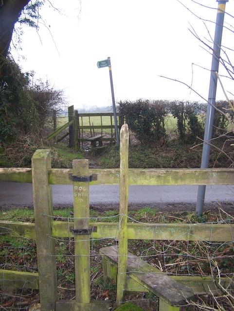 Footpath crosses Rosemary Lane