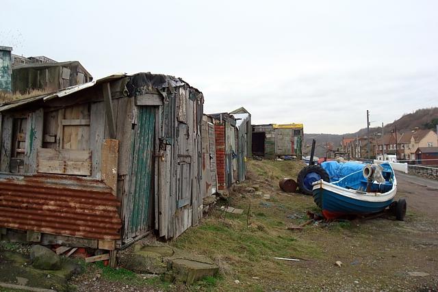 Fishermen's huts, Skinningrove
