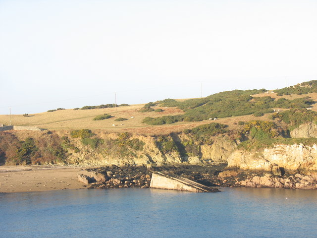 Site of the old lifeboat station at Porth yr Ogof