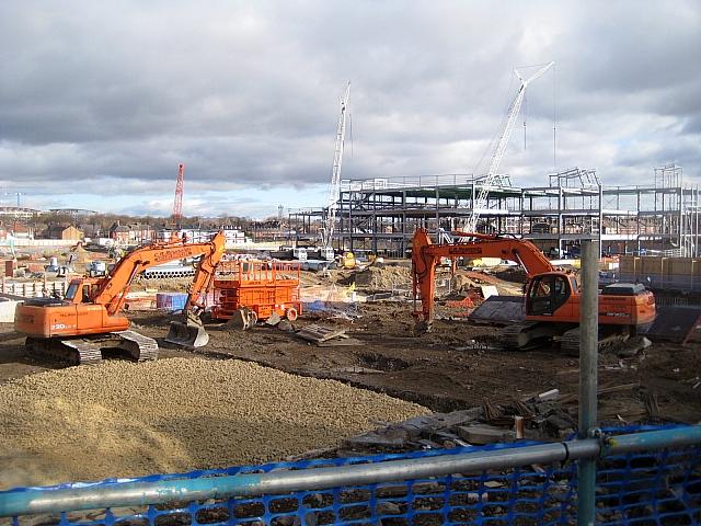Trinity Walk construction site