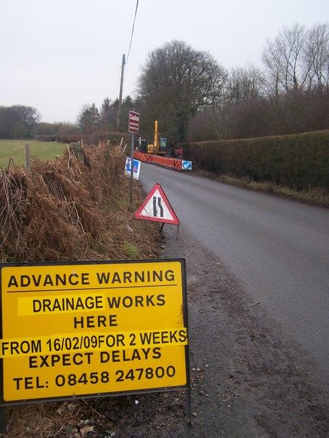 Road Works on Ash Lane
