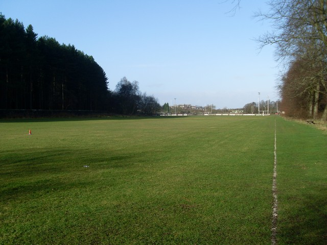 Rugby pitches in Pollok Country Park