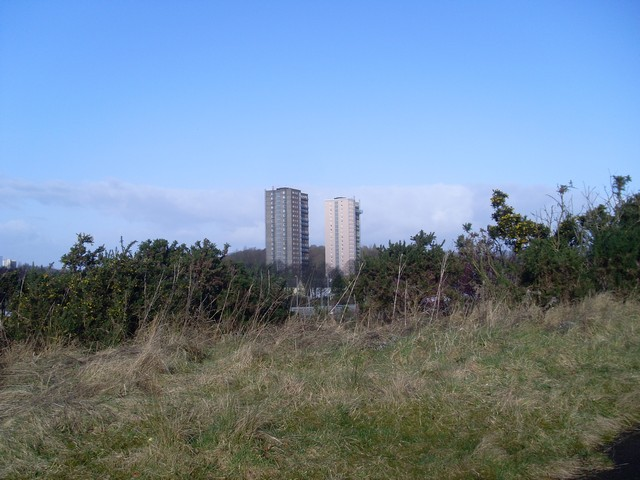Highrise flats in Bellahouston