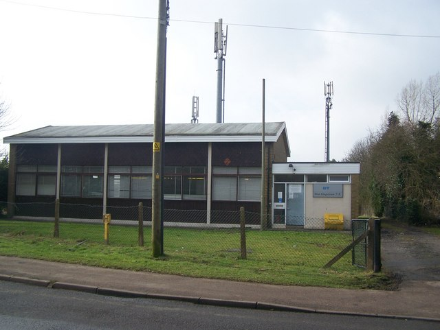 BT Telephone Exchange and Mobile Phone Masts