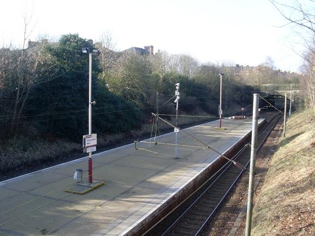 Platforms of Pollokshields West Railway Station