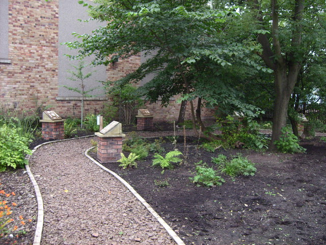 Part of garden at Scottish Mining museum