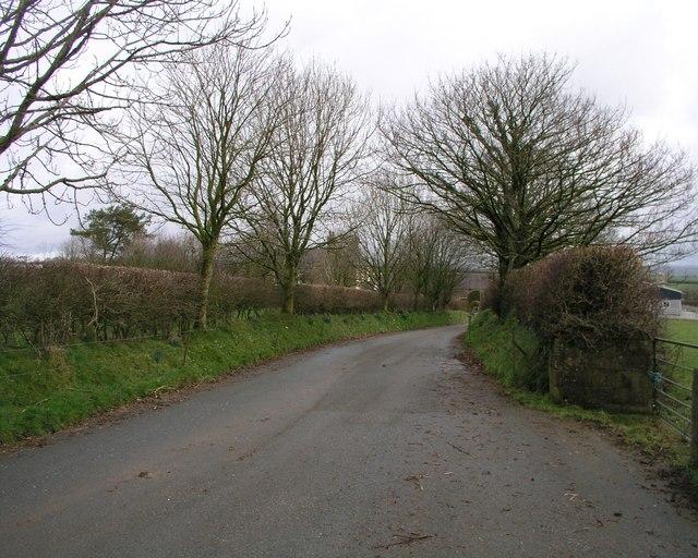 Access lane to Walton Grange