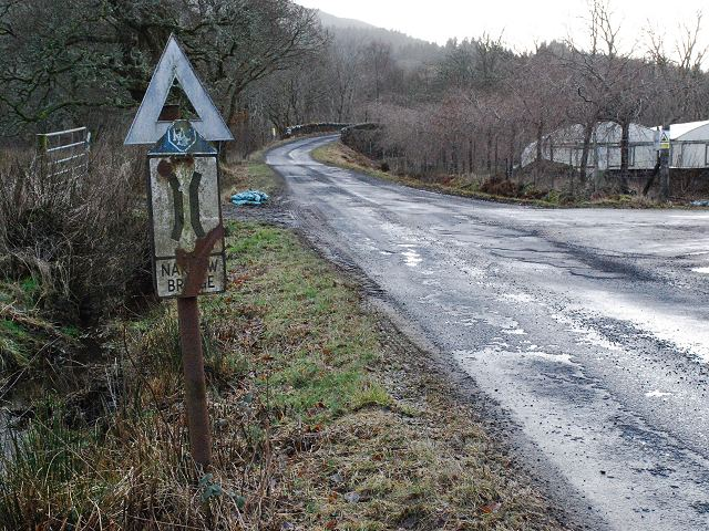 RAC Narrow Bridge sign