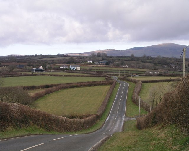 B4313 with Mynydd Preseli in the background
